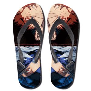 Vibrant Obito Uchiha Vs Kakashi Hatake Thong Sandals
