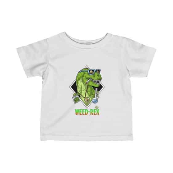 Weed Rex Stoner Dinosaur Amazing Marijuana Baby Tees