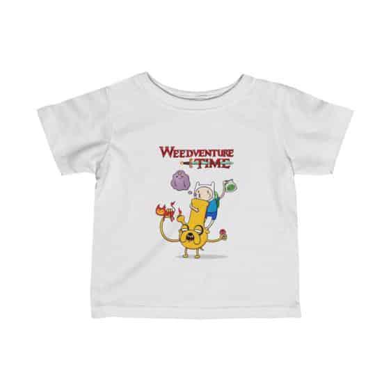 Weedventure Time Finn and Jake Marijuana 420 Baby Shirt