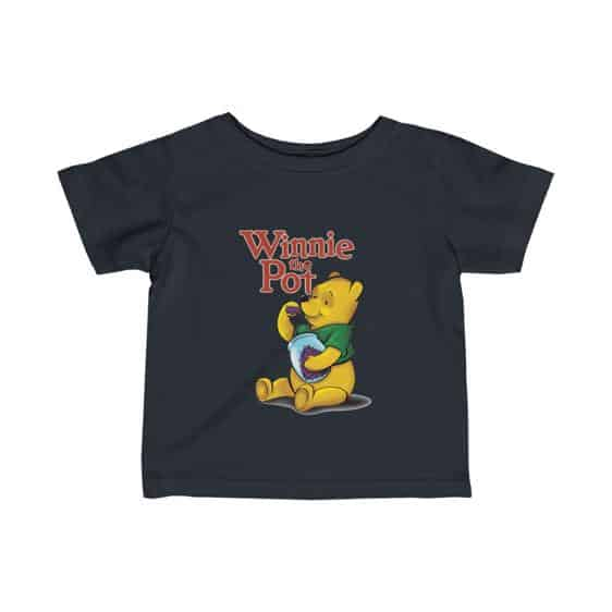 Winnie The Pothead Purple Indica Marijuana Newborn Shirt