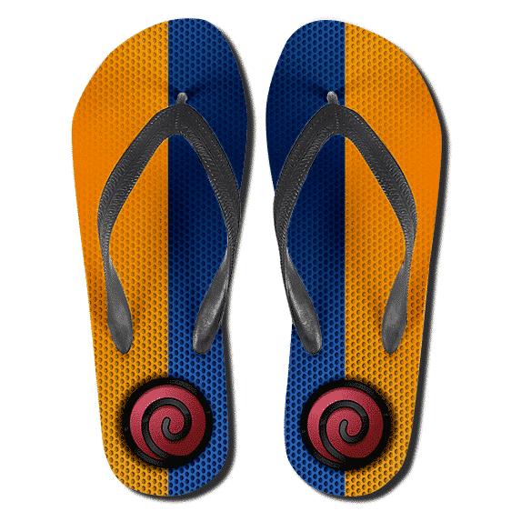 Young Naruto Color Uzumaki Clan Symbol Thong Sandals