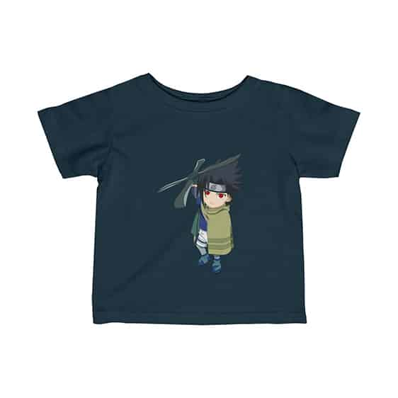 Young Sasuke Holding Windmill Shuriken Cool Infant Shirt