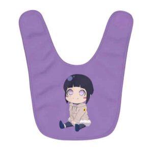 Adorable Chibi Lady Hinata Hyuga Toddler Lavender Baby Bib