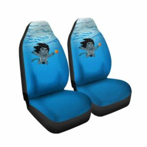 Adorable Kid Goku Under Water Swimming DBZ Car Seat Cover