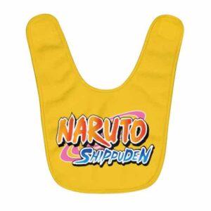 Amazing Naruto Shippuden Logo Bright Yellow Baby Bib