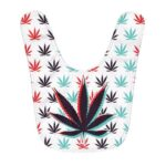 Awesome 3D Marijuana Weed Leaf Trippy Pattern Baby Bib