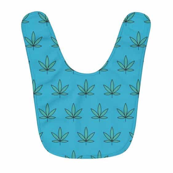 Awesome Marijuana Kush Icon Pattern Caribbean Baby Bib