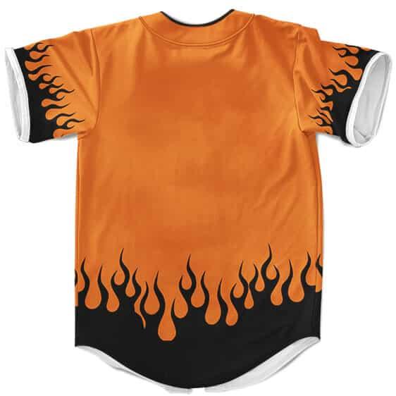 Stunning Hidden Leaf Village Crest Orange Baseball Shirt