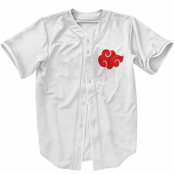 Minimalistic Akatsuki Red Cloud Symbol Baseball Uniform