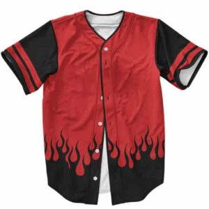 Minato Namikaze Red Hokage Coat Cosplay Baseball Shirt