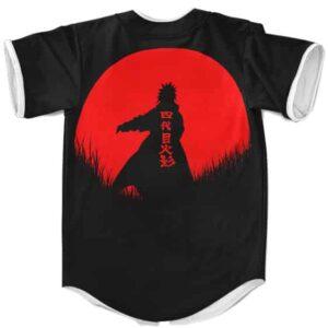 Dope Minato Namikaze Silhouette Black Baseball Uniform