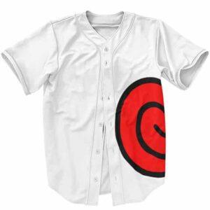 Uzumaki Clan Logo Minimalistic White Baseball Jersey