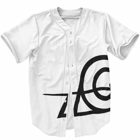 Konohagakure Rogue Ninja Symbol White Baseball Shirt