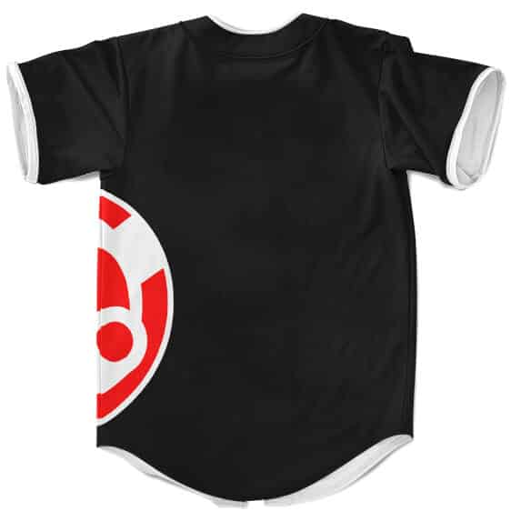 Awesome Storm Sharingan Design Black Baseball Jersey