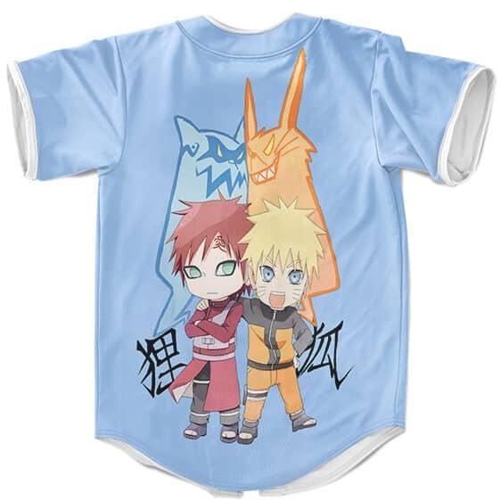 Friendly Rivals Naruto & Gaara Cute Chibi Baseball Jersey