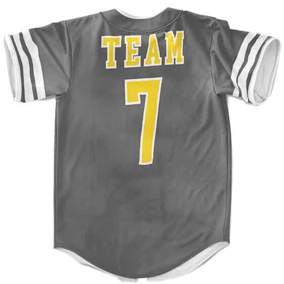 Konoha Team 7 The Best Shinobi Group Gray Baseball Shirt
