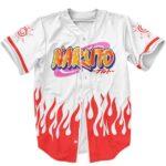 Naruto Uzumaki Logo Hokage Coat Design Baseball Shirt