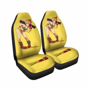 Badass Blonde Launch Yellow Dragon Ball Z Car Seat Cover