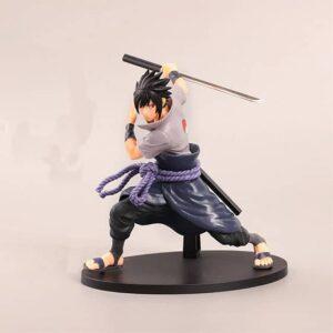 Badass Uchiha Sasuke Holding Katana Sword Toy Figurine