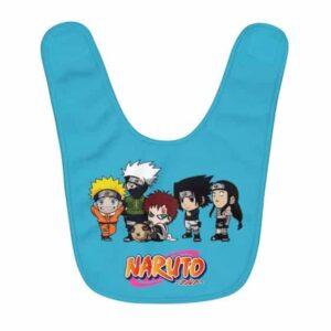 Chibi Genin Ninjas Naruto Gaara Sasuke Neji With Kakashi Baby Bib