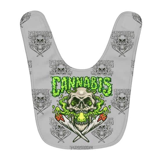Cool Cannabis Skull Smoking a Joint Awesome Baby Apron