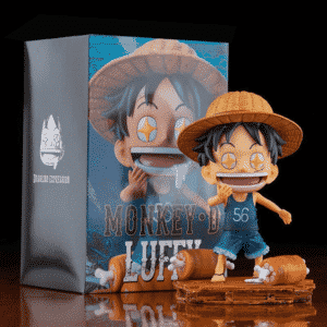 Cute Chibi Kid Luffy Meat Lover One Piece Toy Figurine