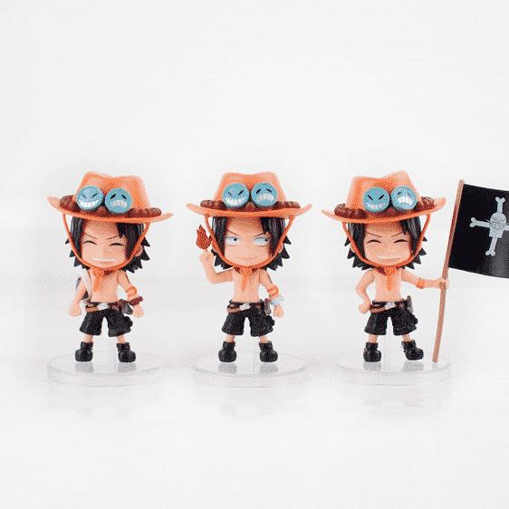 Cute Portgas D. Ace Chibi Set One Piece Toy Figurine