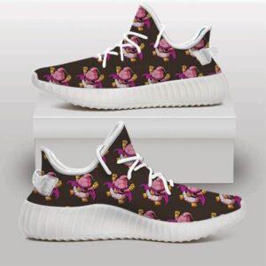 DBZ Chibi Fat Buu Fantastic Pattern Brown Yeezy Sneakers