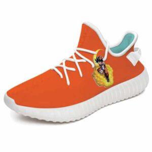 DBZ Goku Riding Kinton Cloud Orange Yeezy Sneakers