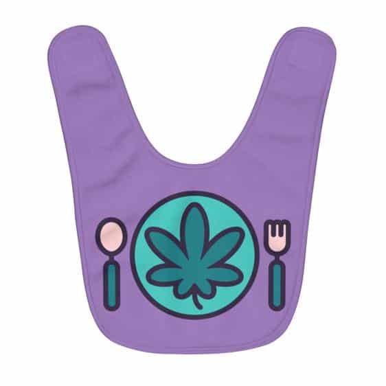 Dazzling Meal Time Is Weed Time Amazing Violet Baby Bib
