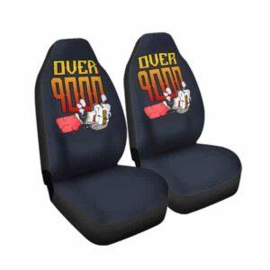Dragon Ball Broken Geiger Counter Over 9000 Car Seat Cover