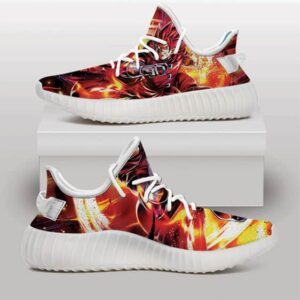 Dragon Ball Legends Giblet Saiyan in Red Yeezy Sneakers