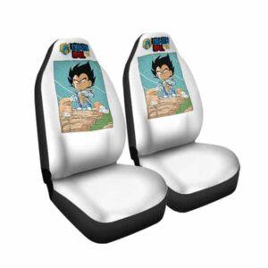 Dragon Ball Z Base Form Vegeta Chibi Art Car Seat Cover