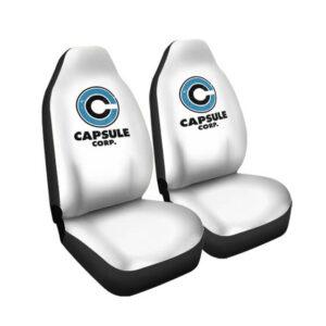 Dragon Ball Z Capsule Corp Logo White Car Seat Cover