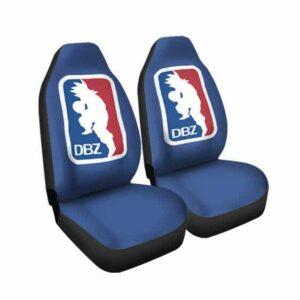 Dragon Ball Z Goku NBA Style Art Blue Car Seat Cover