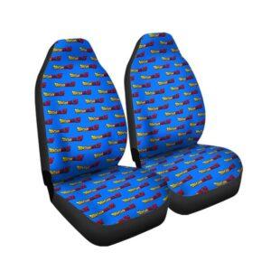Dragon Ball Z Logo Pattern Awesome Blue Car Seat Cover