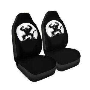 Dragon Ball Z Powerful Great Ape Black White Car Seat Cover