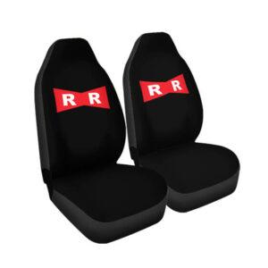 Dragon Ball Z Red Ribbon Army Logo Black Car Seat Cover