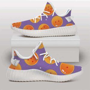 Dragon Balls Namekian Wish Orbs Pattern Purple Yeezy Shoes