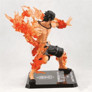 Fire Fist Portgas D. Ace Battle Mode Flame Effects Static Figure