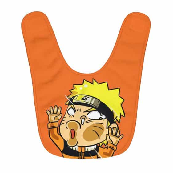 Funny Naruto Uzumaki Hitting Glass Orange Baby Apron