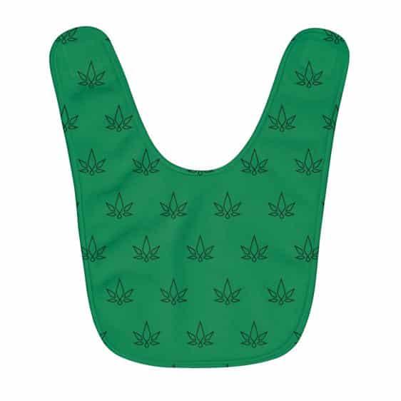 Geometric Marijuana Leaf Minimalistic Pattern Baby Apron