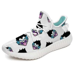 Gotenks Comical Ghost Face Pattern White Yeezy Shoes