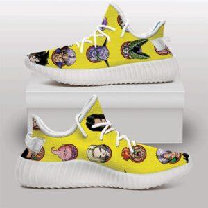 Iconic Dragon Ball Characters Yellow Yeezy Sneakers