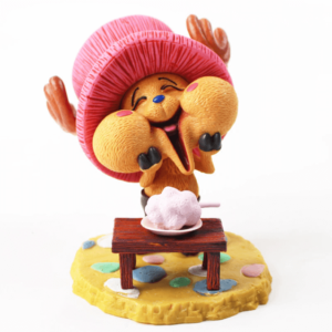 Kawaii Tony Tony Chopper With Cotton Candy Toy Figurine