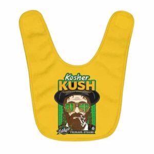 Kosher Kush Jewish Man Smoking a Joint Yellow Baby Bib