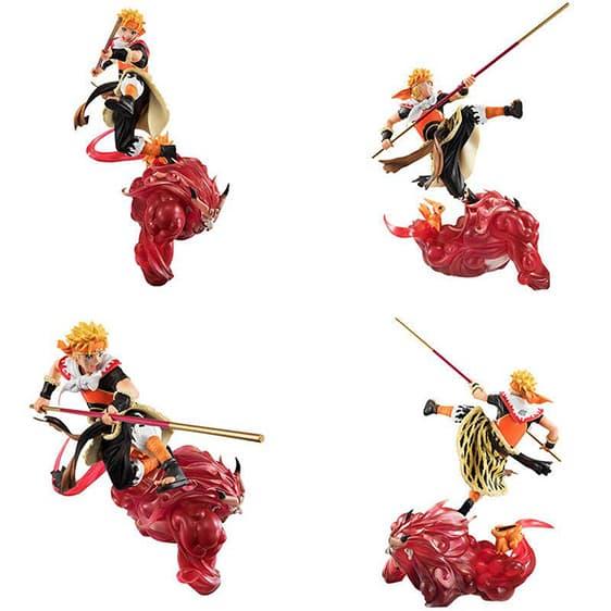 Lively Naruto Uzumaki Riding Sun Wukong Toy Figurine