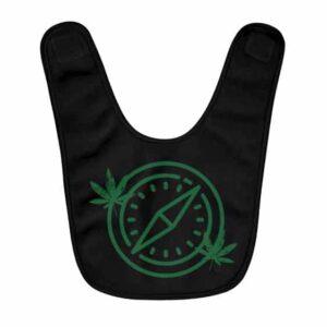 Marijuana Leaf Weed Compass Stunning Black Baby Apron