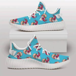 Master Roshi Bloody Nose Pattern Blue Yeezy Sneakers