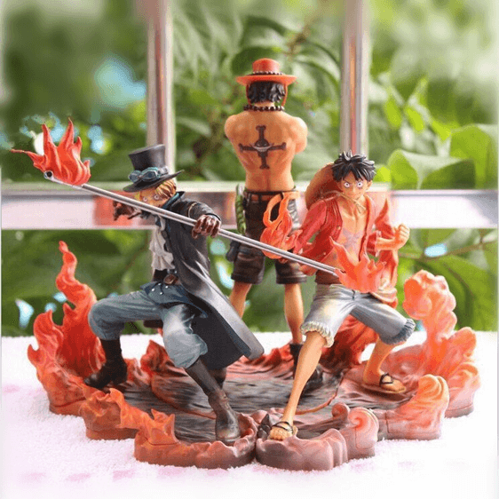 One Piece Blood Brothers Luffy Ace Sabo Set Toy Figurine
